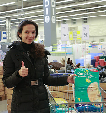 Displaced Woman in Ukraine gets Help From ADRA